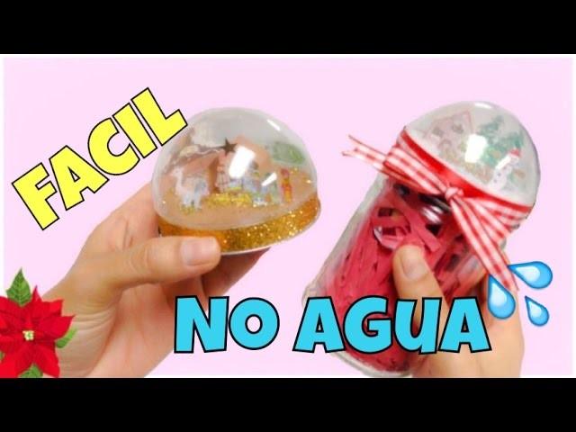 MANUALIDADES PARA NAVIDAD,como hacer un globo de nieve FACIL (snow globe)