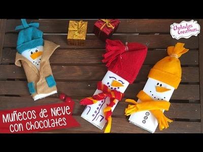 Muñecos de Nieve con Chocolates muy Navideños :: Chuladas Creativas