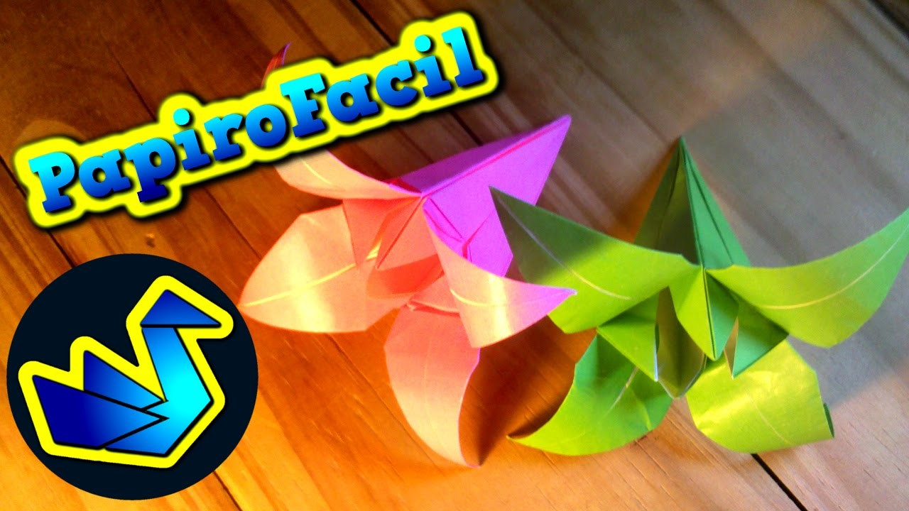 Origami Facil || Como hacer una flor de papel (lirio)