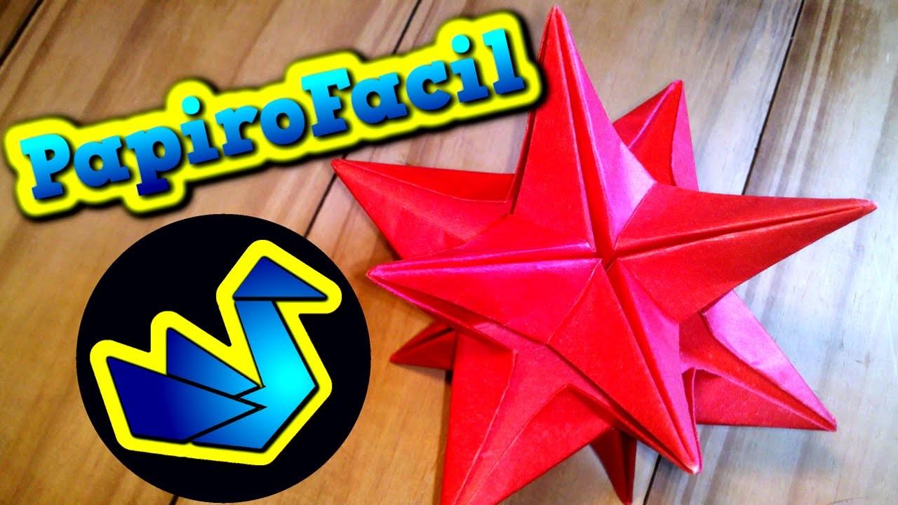 ORIGAMI FACIL || Como hacer una estrella de papel 3D