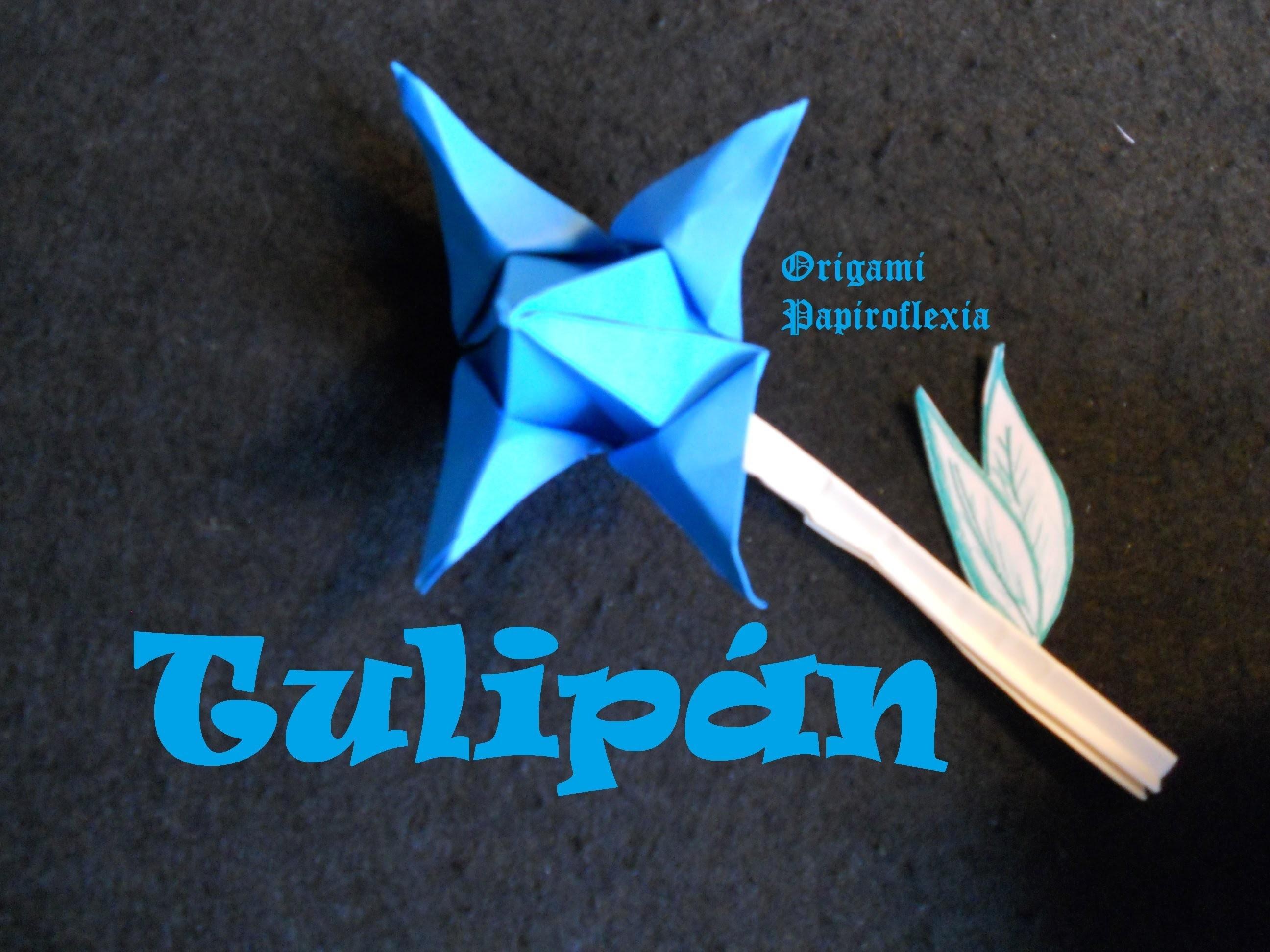 Origami - Papiroflexia. Tutorial: Flor Tulipán, Dificultad medio facil