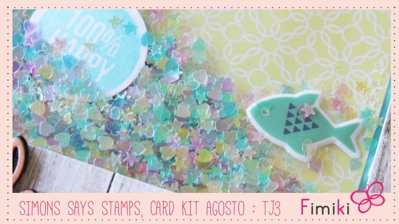 Simons Says Stamps, Card kit Agosto : Tarjeta 3