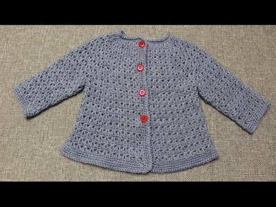 Sueter de 9 a 12 meses Crochet parte 2 de 2