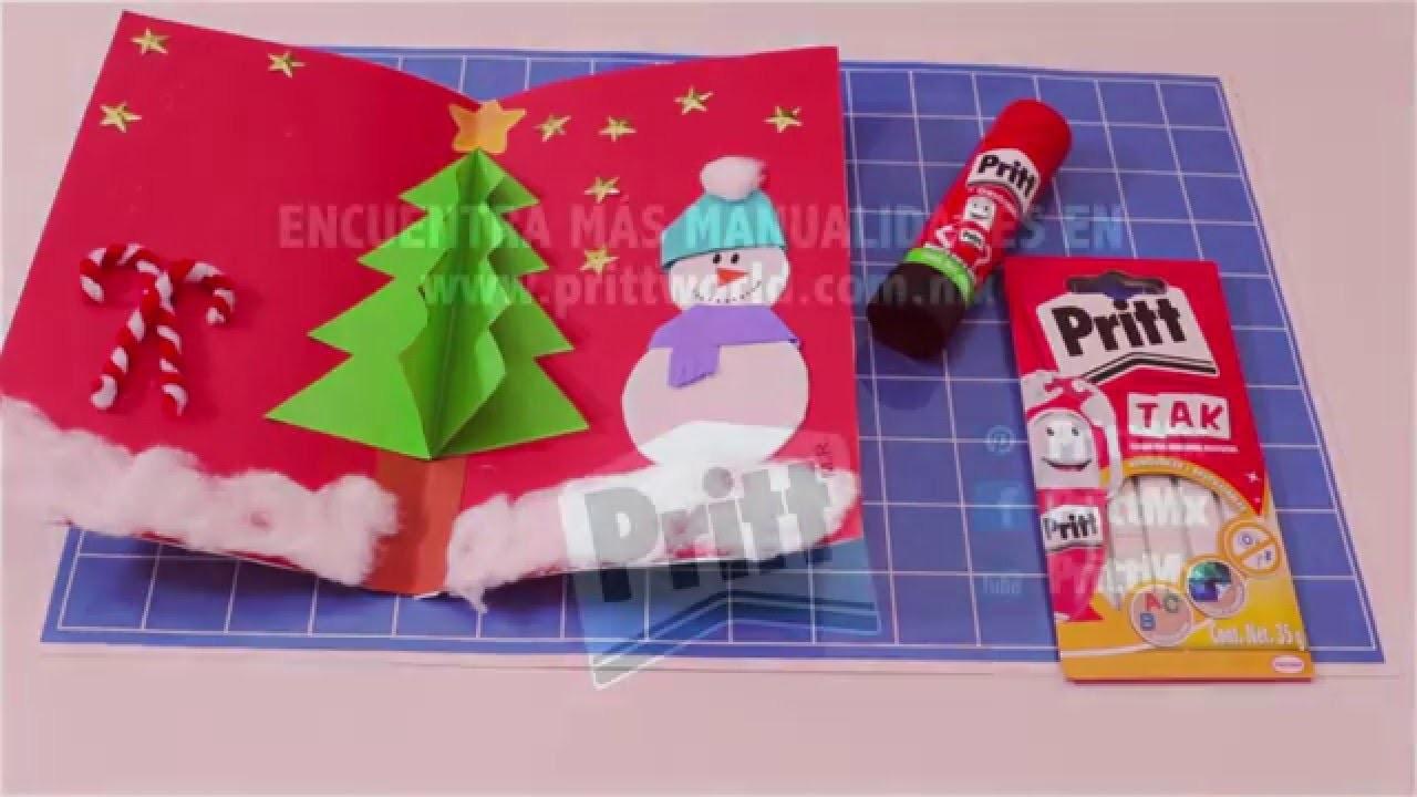 Tarjeta de Navidad 3d con Pritt