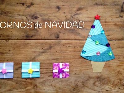 Adornos navideños para niños: regalos de origami