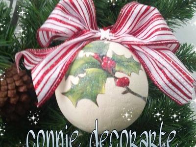 Bola para el arbol de navidad 2 . Técnica de decoupage