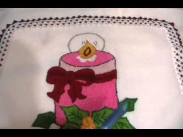 Bordado Fantasía Navidad # 3 Vela