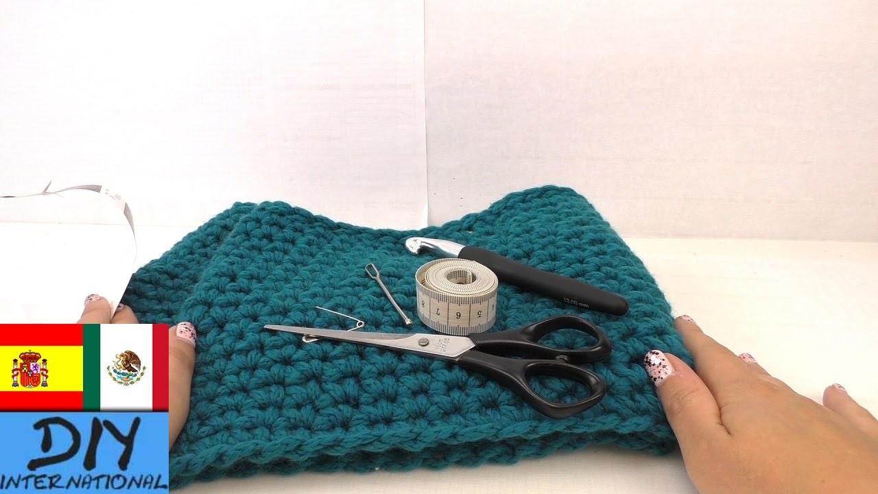 Bufanda de tejido sencillo, para principiantes - Tutorial fácil - Paso aPaso