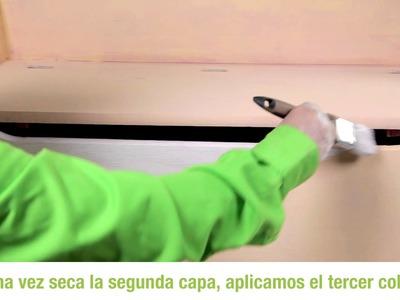 Cómo decorar un baúl con pintura efecto Chalk paint