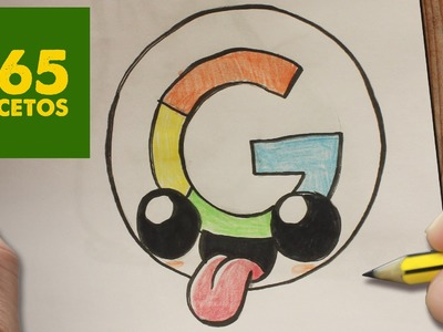 COMO DIBUJAR LOGO GOOGLE KAWAII PASO A PASO - Dibujos kawaii faciles - How to draw google