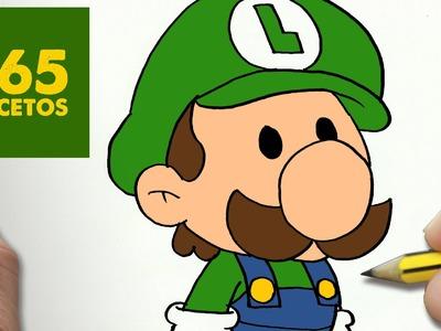 COMO DIBUJAR LUIGI KAWAII PASO A PASO - Dibujos kawaii faciles - How to draw a Luigi