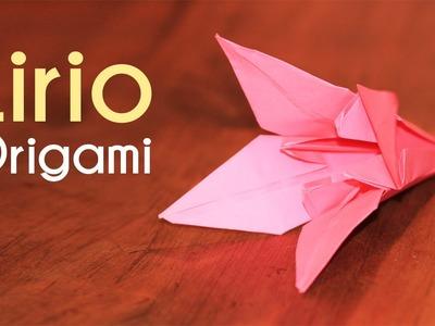 Como hacer flores de papel LIRIO DE ORIGAMI Flores origami