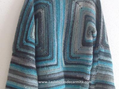 Como hacer Jersey Chaqueta crochet ganchillo paso a paso.