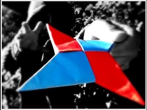 Cómo hacer un  SHURIKEN de papel (FÁCIL) star ninja- naruto- origami- tutorial