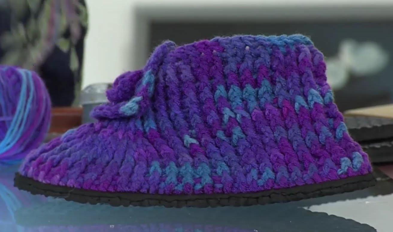 Como hacer Zapatos de Lana en Croché - Hogar Tv  por Juan Gonzalo Angel