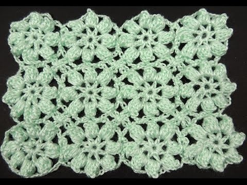 Crochet : Flores en Relieve Continuas