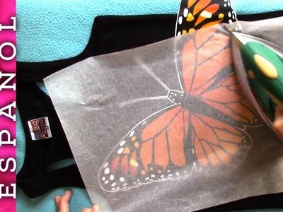 Estámpate una camiseta con mariposa - Dibujo gratis!