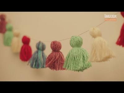 Guirnalda con lana | Decoración para fiestas | @iMujerHogar