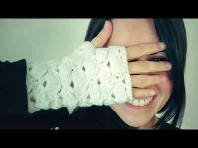 ¡CONCURSO FINALIZADO! Guantes SIN DEDOS a Crochet (mitones) de ABANICOS
