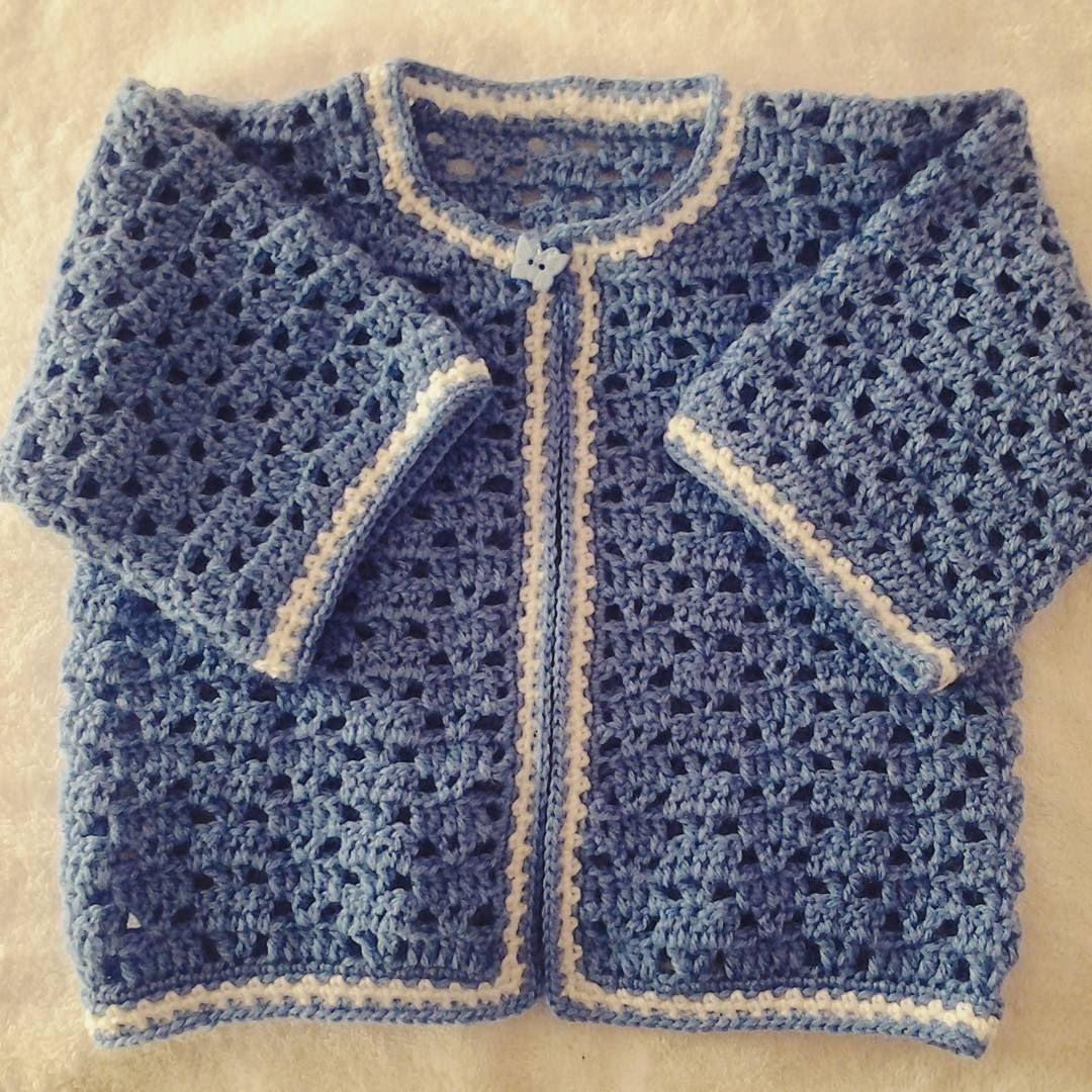 Jersey o chambrita de bebe a crochet #tutorial #DIY 2 parte