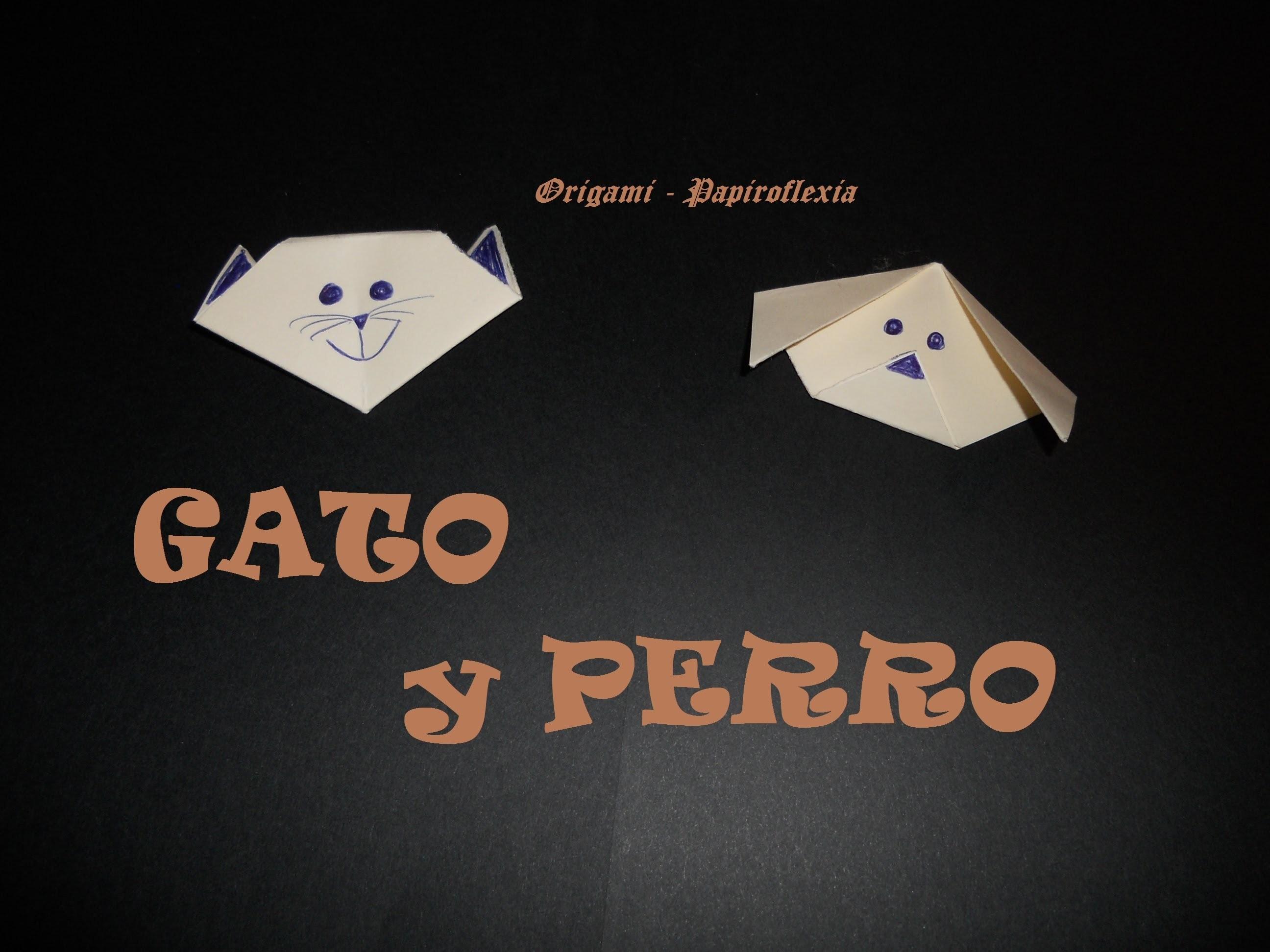 Origami - Papiroflexia. Tutorial: Gato y Perro, muy fácil y rápido