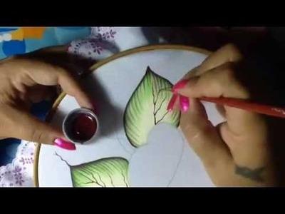 Pintura en tela camino flores # 1 con cony