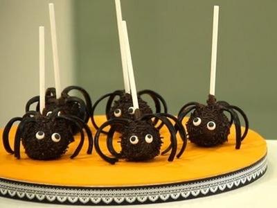 Recetas para Halloween: cake pops de araña