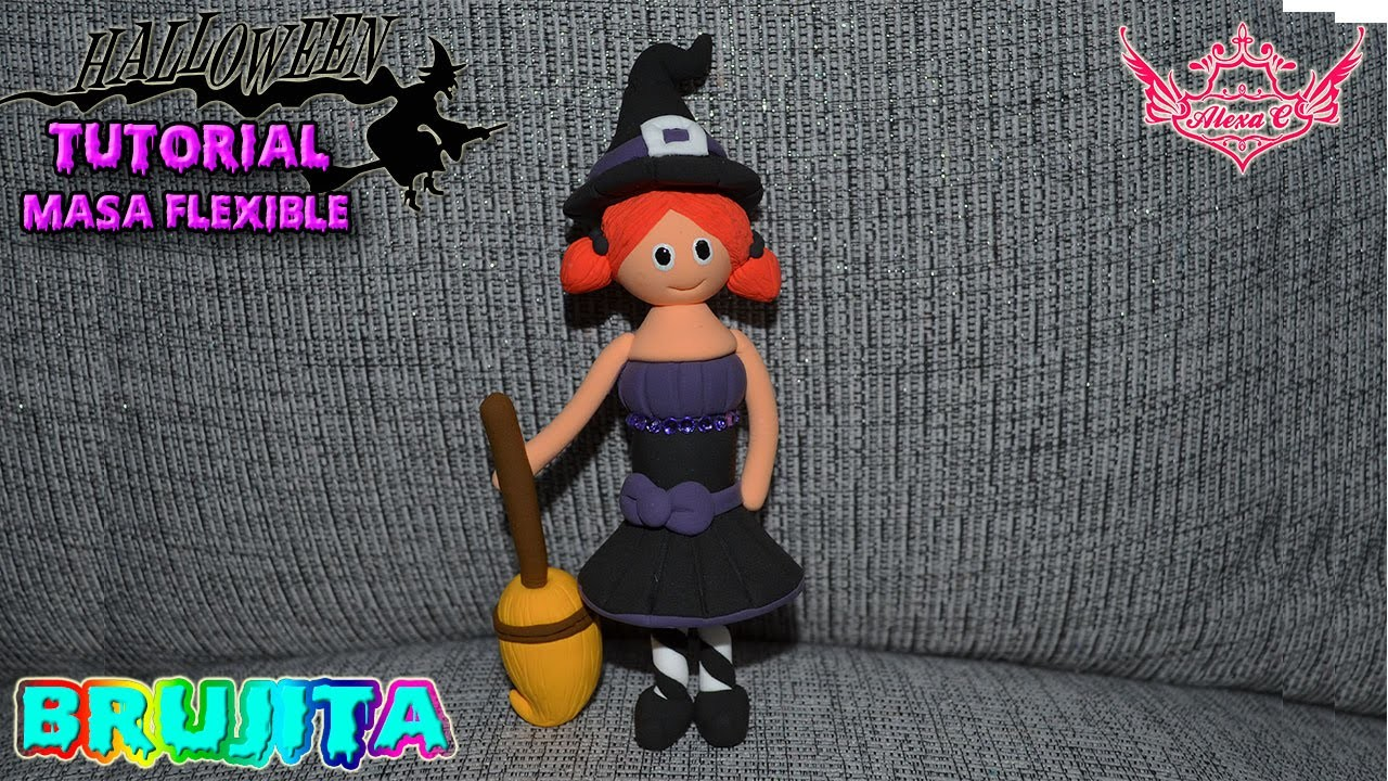 ♥ Tutorial Halloween: Bruja de Masa Flexible ♥
