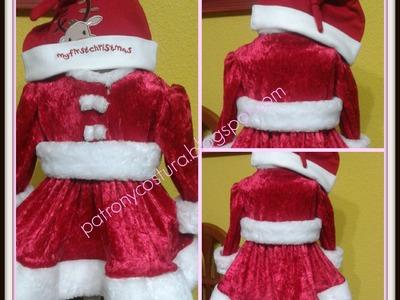 Vestido Santa Claus bebé