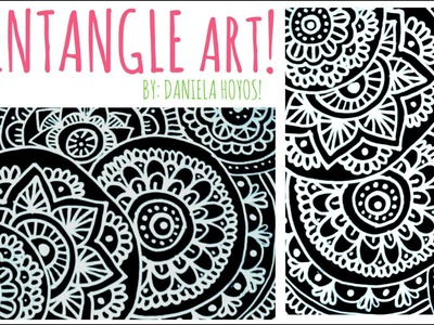 ZENTANGLE ART | Hoja negra + corrector!