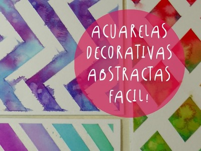 Acuarelas decorativas con cinta de papel (cinta de enmascarar) by ART TV (ESPAÑOL)