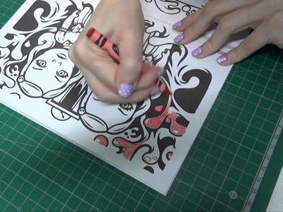 #ASMR español. Coloreando libro de #PeriodPanties
