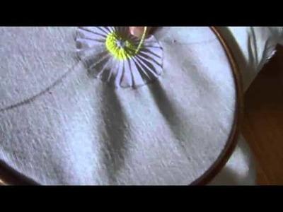 Bordado de Flor Italiana en Deshilado [Nuevo Metodo]