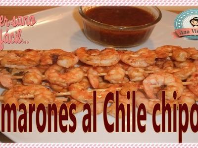 Brochetas de camarones al chile  chipotle | Receta saludable Rápida y fácil | Comer sano es fácil