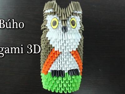 Búho. Owl Origami 3D TUTORIAL