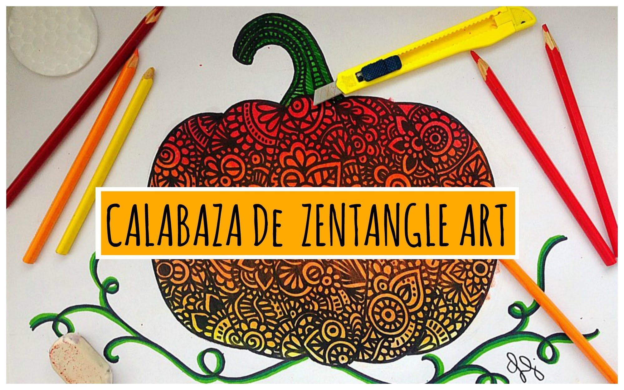 Calabaza de Zentangle Art