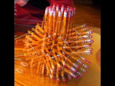 Cómo crear una escultura geométrica con 72 lápices.