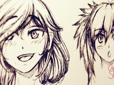 ¿Cómo dibujar Cabello tipo Manga.Anime? [Introducción]