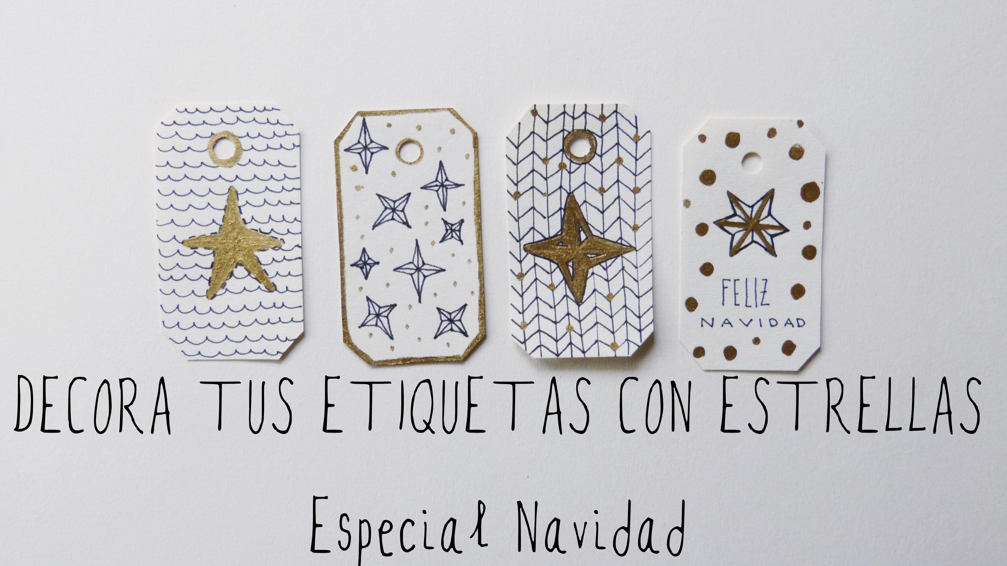 Cómo dibujar estrellas fácil + etiquetas para regalo