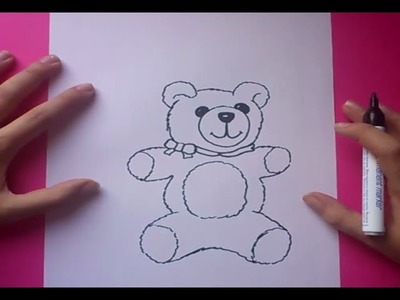 Como dibujar un oso de peluche paso a paso 6 | How to draw a teddy bear 6