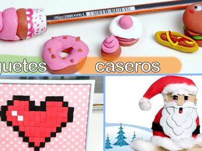 Cómo hacer juguetes caseros de gomas de borrar japonesas, pixel pops y Magic Fabric