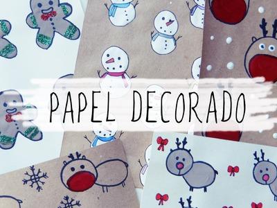 Cómo hacer papel decorativo para regalo y tarjetas de Navidad
