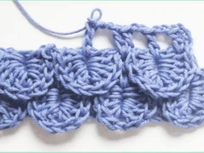 Cómo tejer el punto cocodrilo al crochet