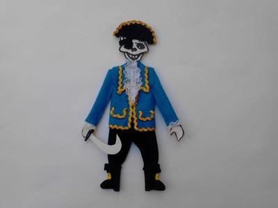 Como vestir calavera o esqueleto de papel   pirata