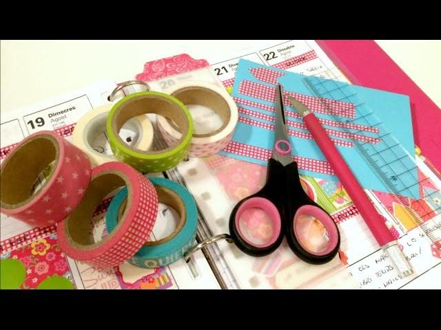 Decora tu agenda conmigo. 7 maneras de recortar Washi Tape. Planner decoration