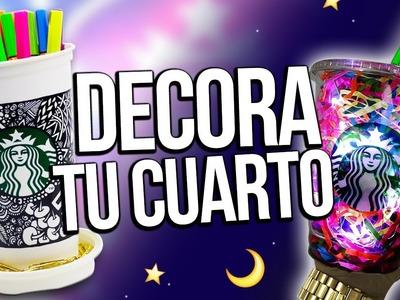 ★ DECORA TU CUARTO estilo STARBUCKS ★ RECICLA!