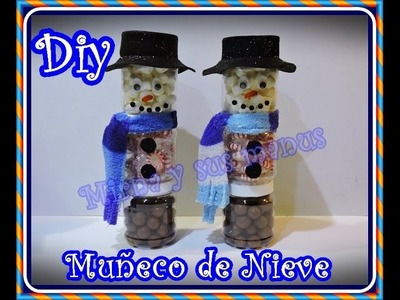 Diy.Muñeco de nieve con dulces para regalar. Diy. Snowman with candy to gift