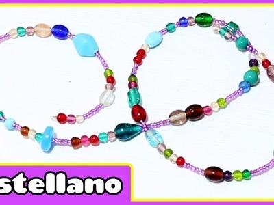Manualidad: Collar de cuentas - Bead Necklace | Manualidades para niñas by Hopplakidz Castellano