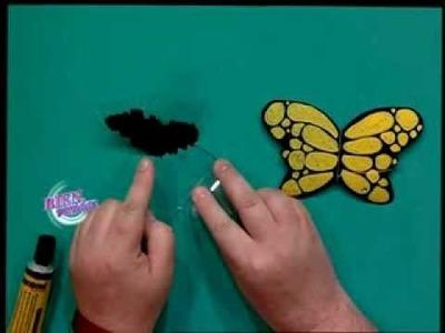 Martín Muñoz - Bienvenidas TV - Crea mariposas con acetato.