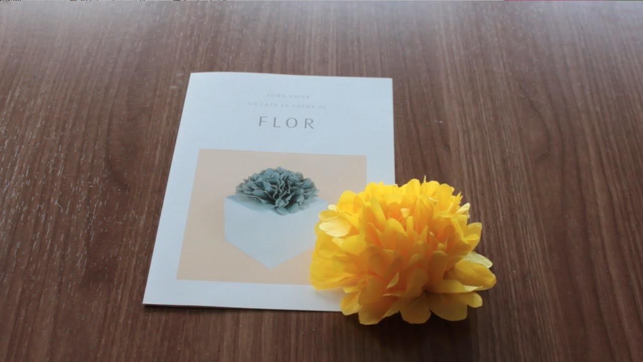 Paso a paso para hacer flor o pompón de papel